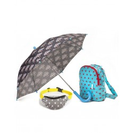 Parasol, plecak i nerka -zestaw star Minikane