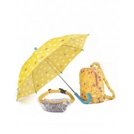 Parasol, plecak i nerka -zestaw flower Minikane