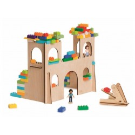 Zamek z katapultą- zestaw BRIKKON