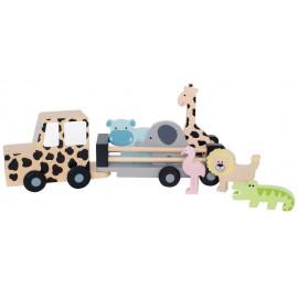 Drewniany samochód jeep safari Jabadabado