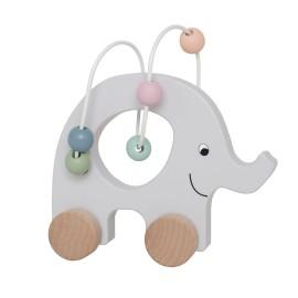 Mini labirynt na kółkach - słoń przeplatanka srebrny Jabadabado