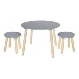 Stolik z krzesełkami srebrny Jabadabado