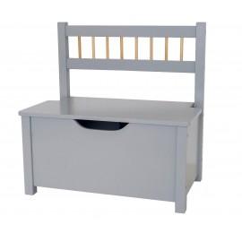 Skrzynia, ławka na zabawki srebrna Jabadabado