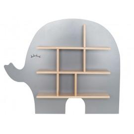 Półka ścienna słoń srebrna Jabadabado