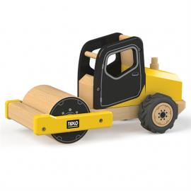 Drewniany pojazd budowlany walec Tidlo