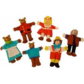 Złotowłosa i Trzy Niedźwiadki - Pacynki