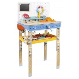 Drewniany warsztat z narzędziami - konstruktor