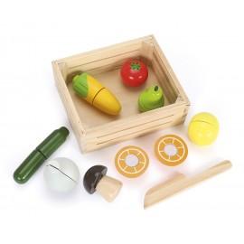 Drewniane owoce  i warzywa skrzynce cytrusowy mix