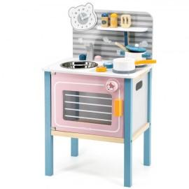 Drewniana kuchnia dla dzieciz akcesoriami, Viga