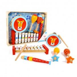 Drewniane kolorowe instrumenty muzyczne Tooky Toy