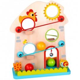 Drewniany domek kulodrom z piłeczkami Tooky Toy