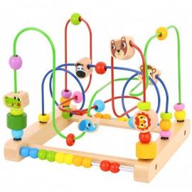 Drewniany edukacyjny labirynt - przeplatanka, zakręcony las Tooky Toy