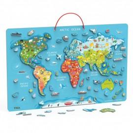 Tablica magnetyczna mapa świata 2w1 Viga