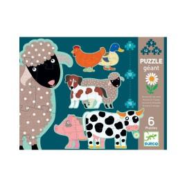 """Gigantyczne puzzle """"Honore i przyjaciele"""", Djeco"""
