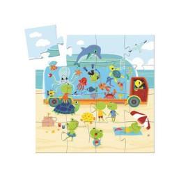 Puzzle Akwarium- 16 elementów, Djeco