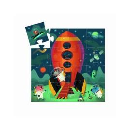 Puzzle Statek Kosmiczny- 16 elementów, Djeco