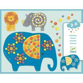 Zestaw artystyczny mozaika dla maluchów - Dżungla, Djeco