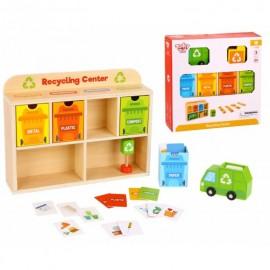 Drewniane centrum recyklingu, sorter Tooky Toy