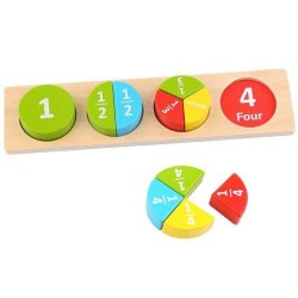 Drewniane puzzle do nauki ułamków, Tooky Toy
