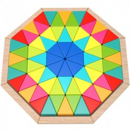 Drewniana mozaika edukacyjna, puzzle Tooky Toy