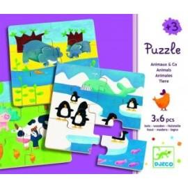 Puzzle Zwierzątka 6 - elementowe