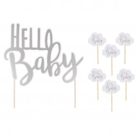 Pikiery i dekoracja Hello Baby Jabadabado