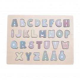 Drewniane Puzzle Abecadło Jabadabado