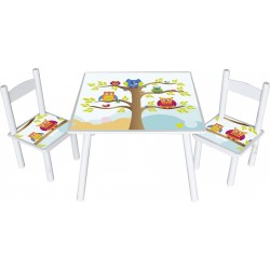 Stolik z krzesełkami Sowa