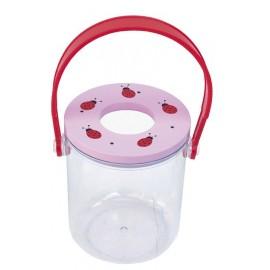 Pojemnik na owady z lupą różowe biedronki
