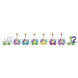 Pociąg urodzinowy baloniki