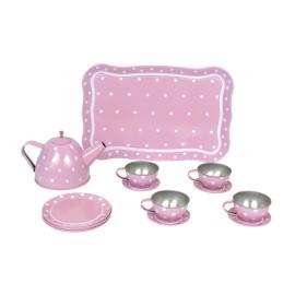 Serwis do herbaty różowy Jabadabado