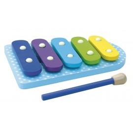 Drewniane cymbałki - pierwszy ksylofon niebieski