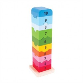 Rozkładana wieża z klocków z liczbami BIGJIGS