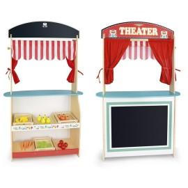 Sklep i teatr drewniany