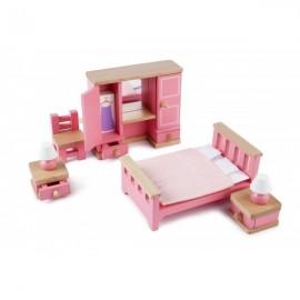 Sypialnia - drewniane mebelki do domku dla lalek, Tidlo