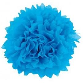 Pompony papierowe zestaw 4szt. niebieskie