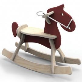 Koń na biegunach STEFANEK brązowy