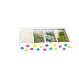 Magiczne pudełko z szklanymi kulkami