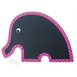 Tablica różowy słoń