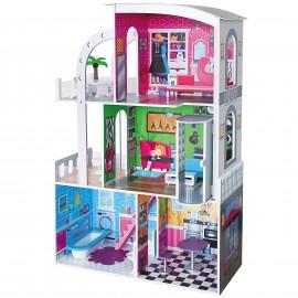 Drewniany domek dla lalek- nowoczesna  willa