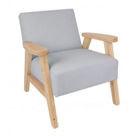 Fotel dziecięcy szary Jabadabado