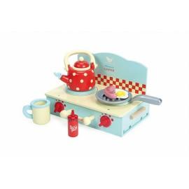 Drewniana kuchenka z wyposażeniem, Le Toy Van