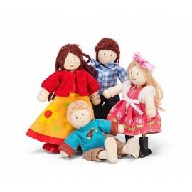 Drewniane laleczki, rodzina LE TOY VAN