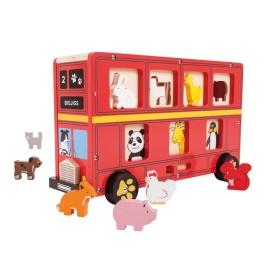 Czerwony autobus - sorter