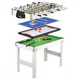 Krakpol Stół do gier 4 w 1: PIŁKARZYKI, BILARD, TENIS, CYMBERGAJ