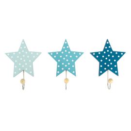Wieszak gwiazdki pastelowy niebieski 3szt
