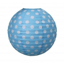 Klosz do lampy w  kropki niebieski Jabadabado