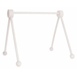 Drewniany stojak edukacyjny -baby gym biały