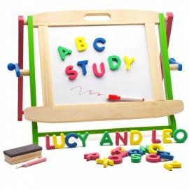 Drewniana tablica dwustronna Lucy&Leo