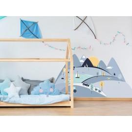 Naklejki ścienne góry niebieskie  S 150 x 75 cm